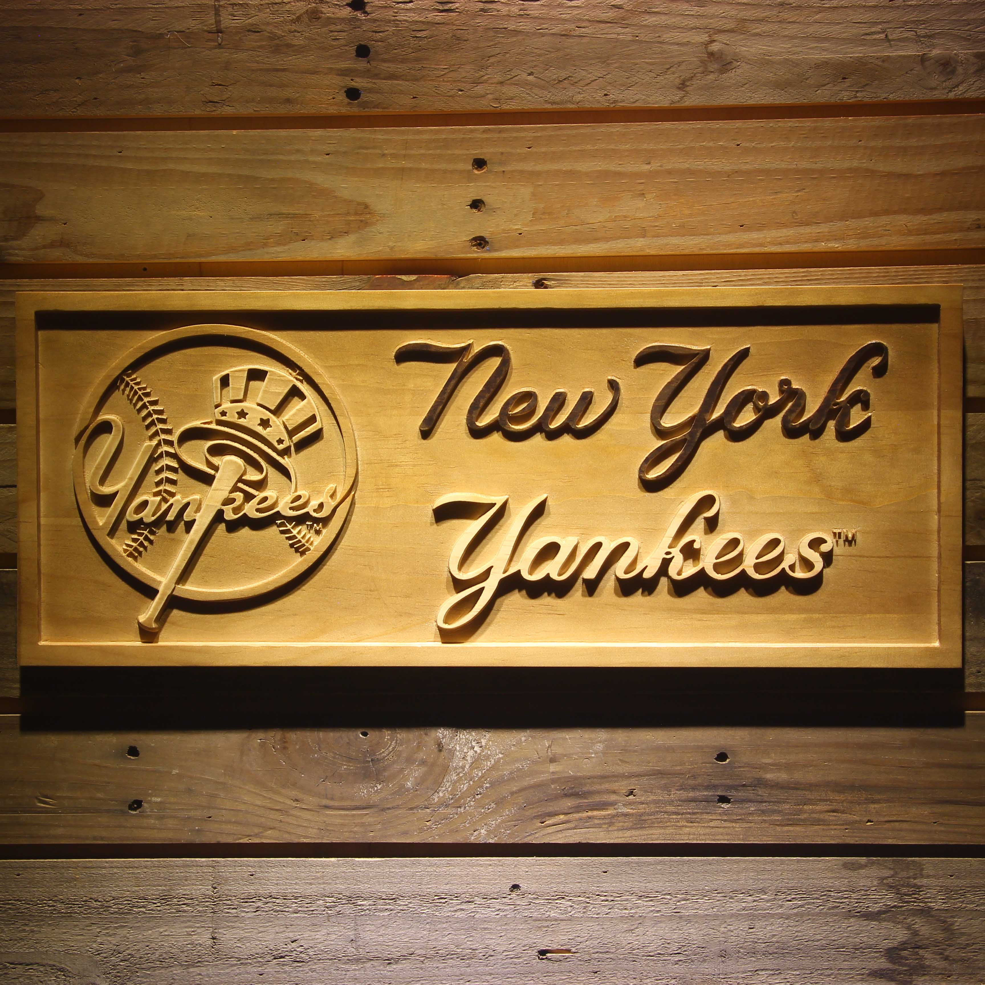 New York Yankees 3D Wooden Sign-in Plaques & Signs from Home ...