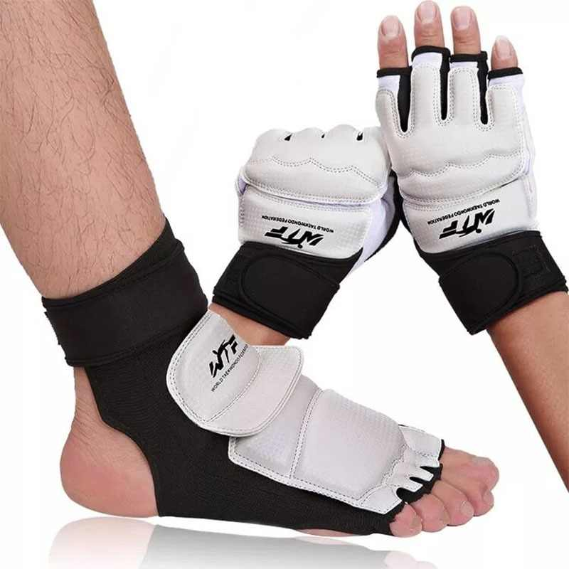 Taekwondo Gloves Adults Children Sparring Hand Palm Foot Protector Wrestle Cycling Boxing Gloves Karate Combat Clothes Socks