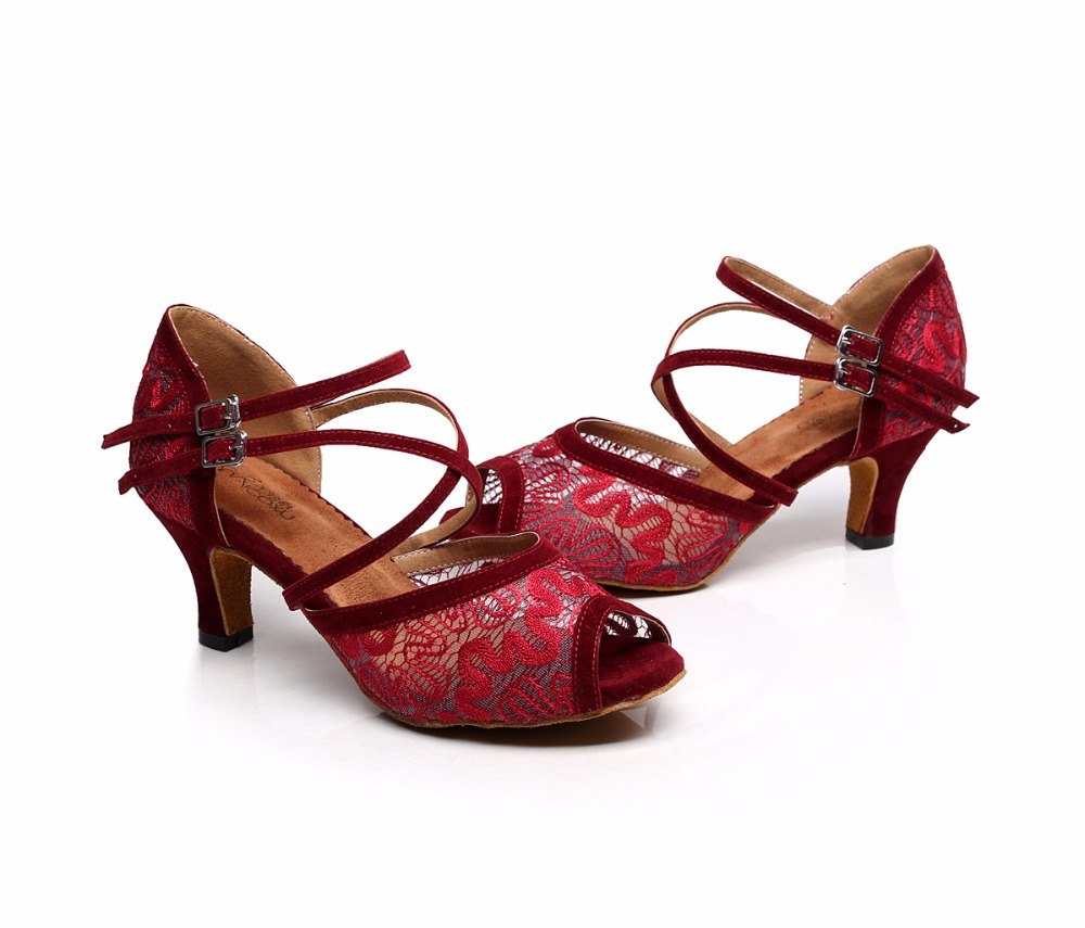 53936cbefa US $22.49 25% OFF|Women Ballroom Latin Dance Shoes Black Red Salsa Tango  Bachata Dance Shoes Heels 5/6/7.5/8.5cm Suede Sole VA20-in Dance shoes from  ...