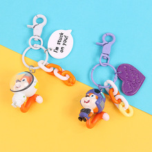 2019 Hot New Luxury cute 3D astronaut squirrel cartoon love keychain silicone For Or Women