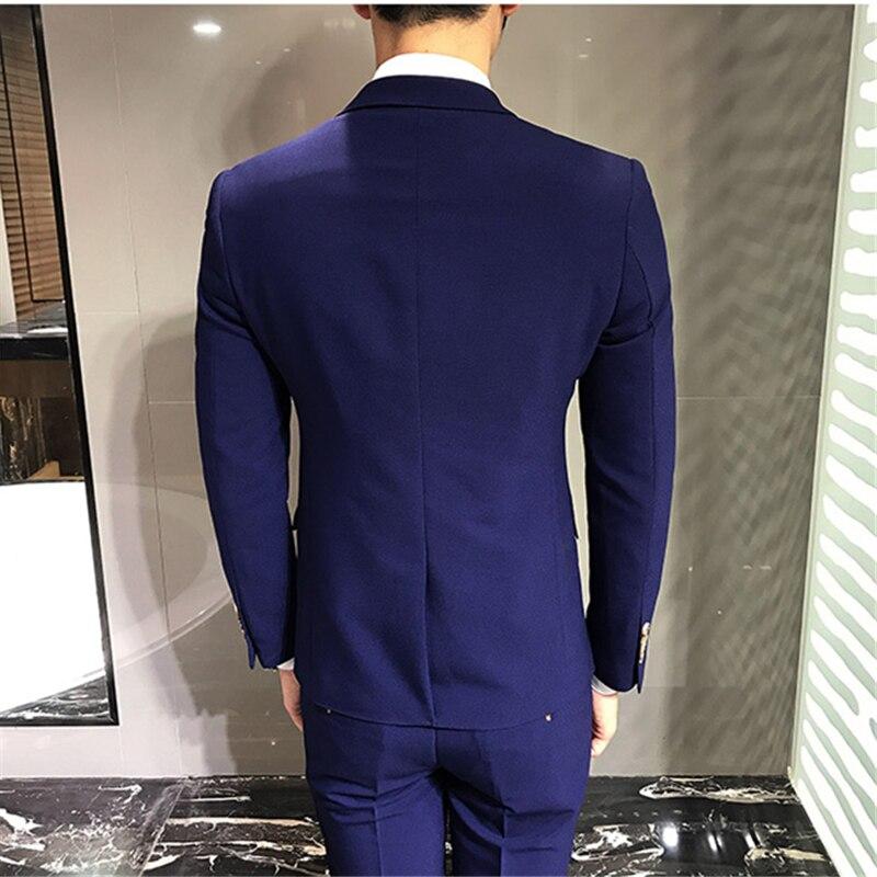 LEFT-ROM-Blue-Men-s-Suits-Jackets-Vests-Suit-Pants-S-M-L-3XL-Fashion-Business