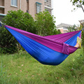 Portable outdoor hammock Survival hamaca garden swing hanging chair Parachute Cloth single person bed size 230x90cm