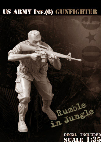 Scale Models 1 35 U S Army Inf Gunfighter soldier figure Historical WWII Resin Model Free