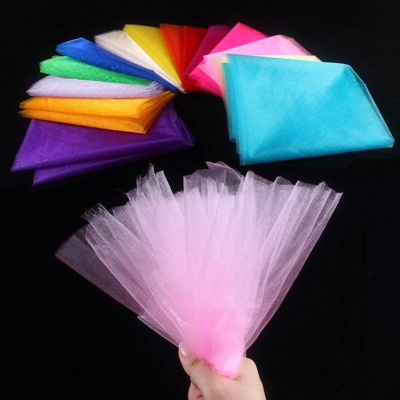 HAOCHU 10m lot 1 5m Wide Sheer Organza Tulle Roll For Wedding Event Party Supplies Fabric
