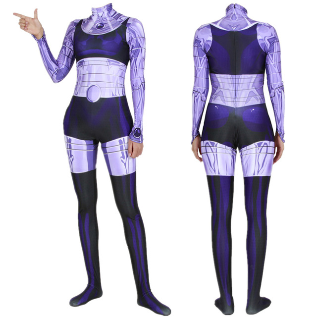 3D Print Custom YJ Blackfire Superhero Costume Women Girl Lady Starfire Cosplay Costume Kids Adults Bodysuit