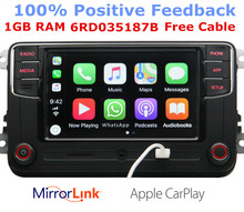 RCD330G CarPlay RCD330 Plus Auto MIB Radio Voor VW Tiguan Golf 5 6 Jetta MK5 MK6 Passat Polo Touran 6RD035187B 6RD 035 187B