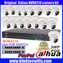 Dahua 16CH 5MP POE NVR4216 Surveillance CCTV System Video Recording Kit Dahua 3MP IPC-HDW320S Network Small IR Eyeball IP Camera