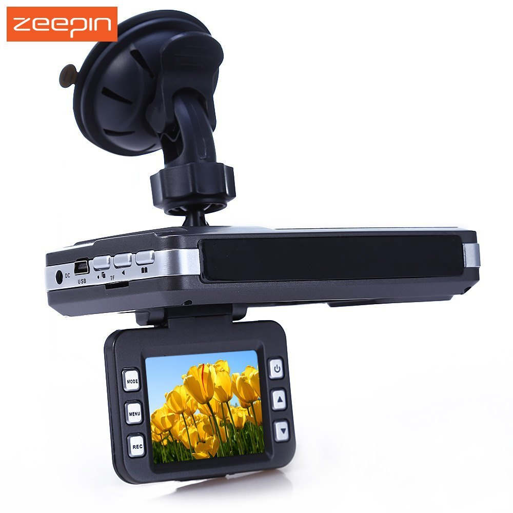 Zeepin VGR - B Car Laser Radar Full Band Detector 2 inch TFT HD Rear View DVR Camera 720P 30FPS Russian English Voice only for russian market 170 degree 2 4 car dvr e dog vgr b laser radar full band detector dvr camera speed inspection 3 in 1