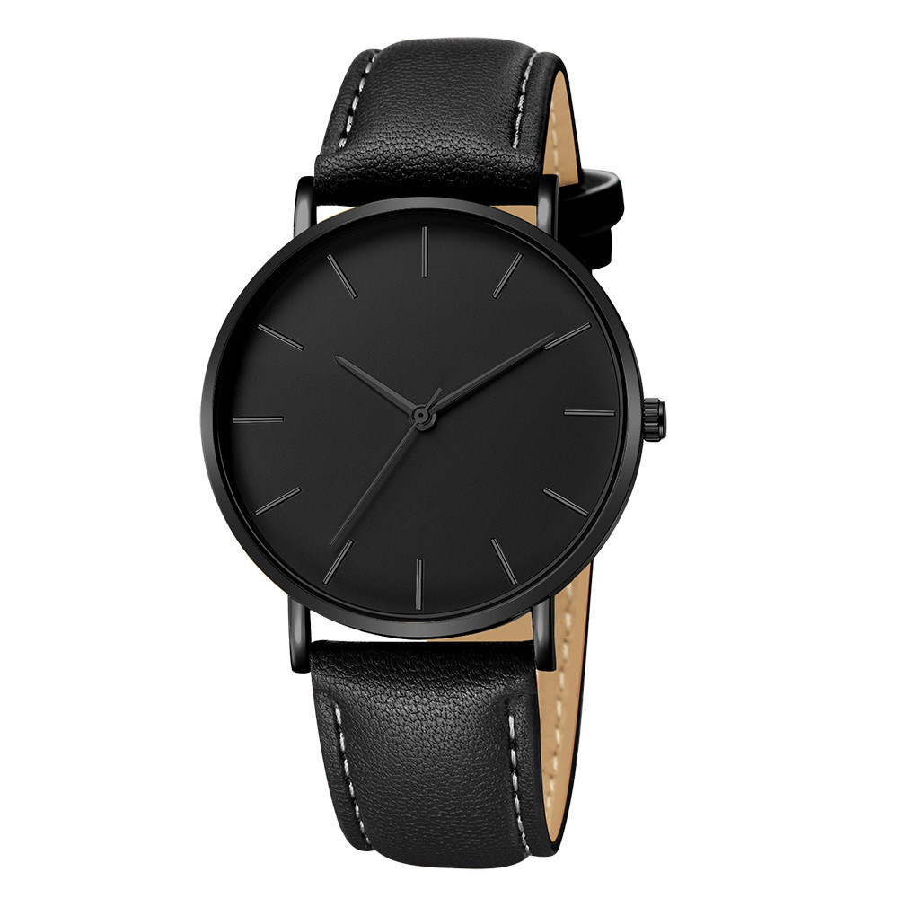 Steady Fashion Women Men Date Alloy Case Synthetic Leather Analog Quartz Sport Watch Watches