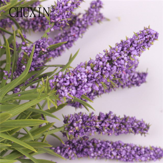 15 teste di fiori di seta provence lavanda 5 colori falso artificiale di alta qu