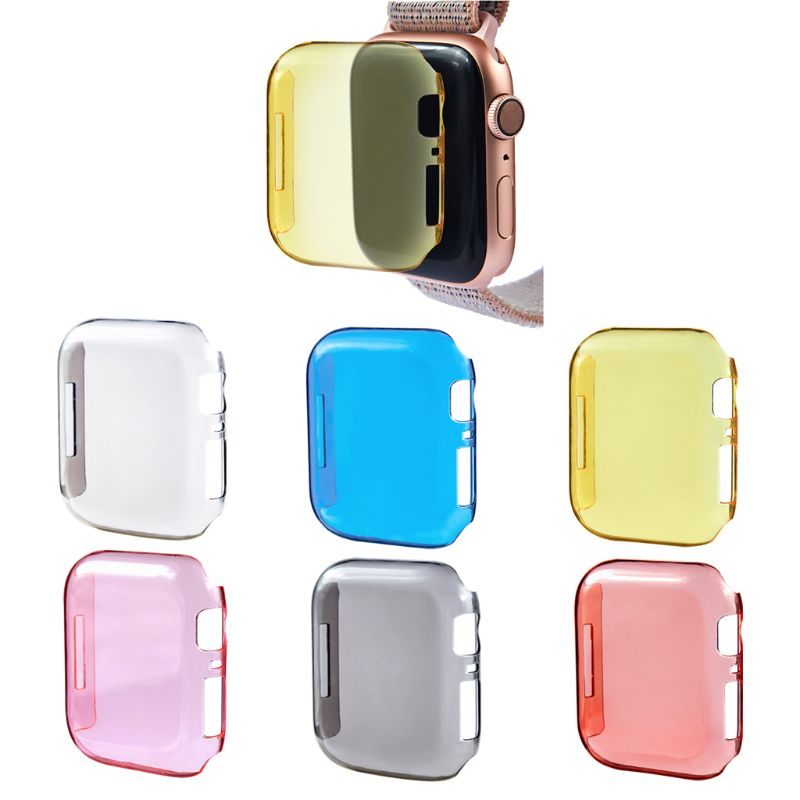 Shockproof Case Cover Screen Protector for Apple watch 40mm 44mm Serie 4 TPU Transparent Dropproof Waterproof baseus shield case tpu cover for iphone7 gray