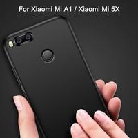 Case For Xiaomi Mi A1 Mi5X Case Luxury Matte Silicone Soft Cover For Xiaomi Mi 5X Phone Case Xiaomi Mi A1 Mi5 X Back Cover Cases
