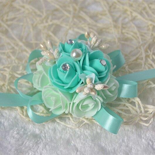 5 unids / lote alta calidad hecho a mano tiffany azul boda muñeca - Para fiestas y celebraciones