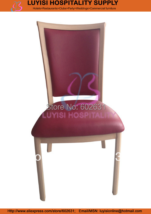 Hot Sale Stackable Wood Imitation Aluminum Dining Chair