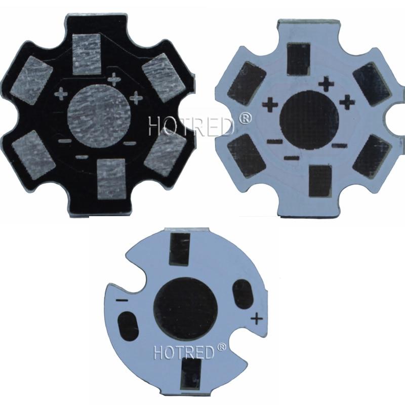 100pcs 1W 3W 5W Heat Sink LED Aluminum Base Plate PCB Board Substrate 20mm Star Kit DIY Cooling Heatsink 20 Mm For 1 3 5 W Watt