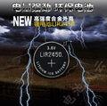 Frete Grátis! 10 pcs Botão LIR2450 Bateria De Lítio 2450 3.6 V 120 mah Bateria Recarregável