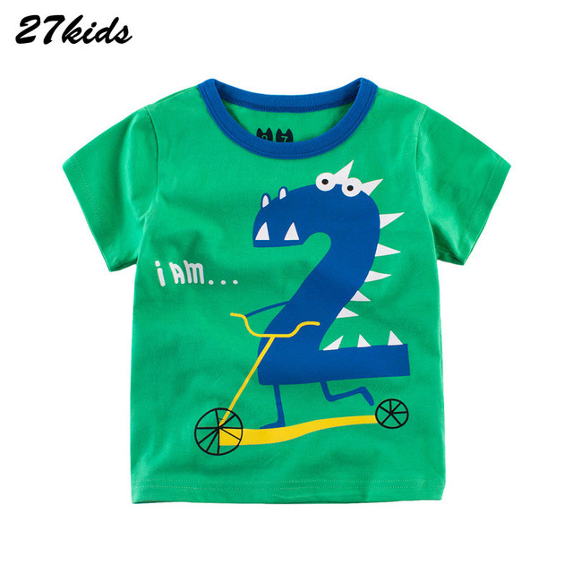 f33d2078 27kids I AM 2 Shirt With Short Sleeves for The Boy I am 4 Boy Tops 2018 Kid  T Shirts Summer Cotton Children Kids Girl T-Shirts