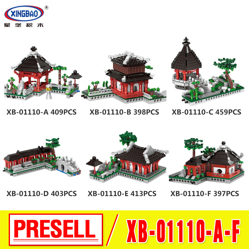XingBao 01110 New Toys Building Series The 6 in 1 Chinese Suzhou Garden Model Set Building Blocks Bricks Toys For Kids Gifts writing guide to the new hsk level 6 chinese edition chinese paperback chinese language learner s
