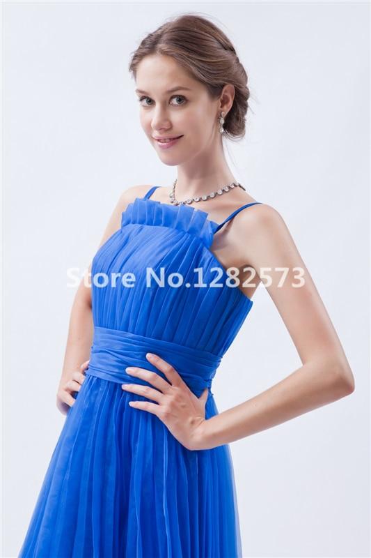 Royal Blue Sexy Spaghettibügel Mädchen Cocktailkleider Tee Länge ...
