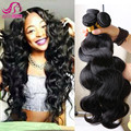 Peruvian Virgin Hair Body Wave, Hair Weave Bundles 3Pc Lot 7A Unprocessed Pervian Virgin Hair Body Wave Natural Black Human Hair