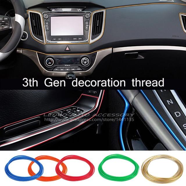 Update 5M 3 Generation Car Styling Interior Decorative Thread Sticker  Insert Type Air Outlet Dashboard Decoration