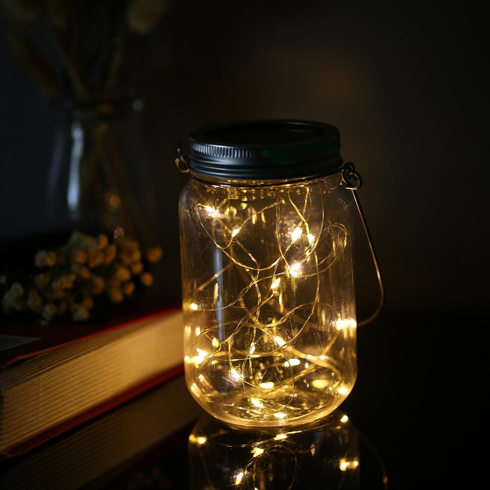 String Lights Mason Jar Solar Lantern