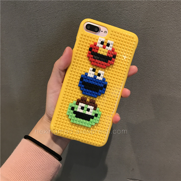 first rate 52e57 e7970 US $3.85 24% OFF|Luxury Sesame street Phone legos toy Cases For Iphone 6  Case For Iphone7 6S 7Plus 6SPlus DIY 3D Cute Cover on Aliexpress.com | ...