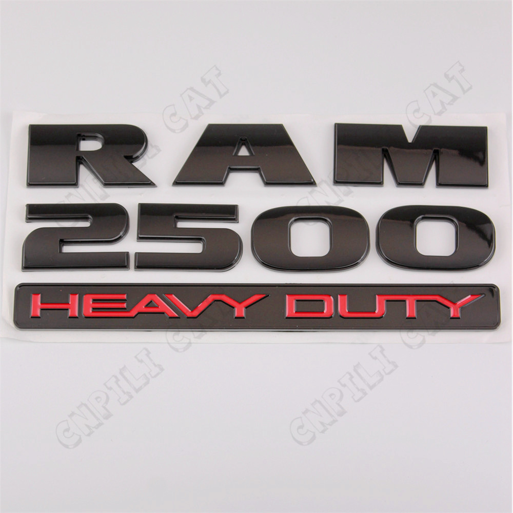 1x 3d ram 2500 heavy duty car truck abs nameplate emblem stickers for dodge china