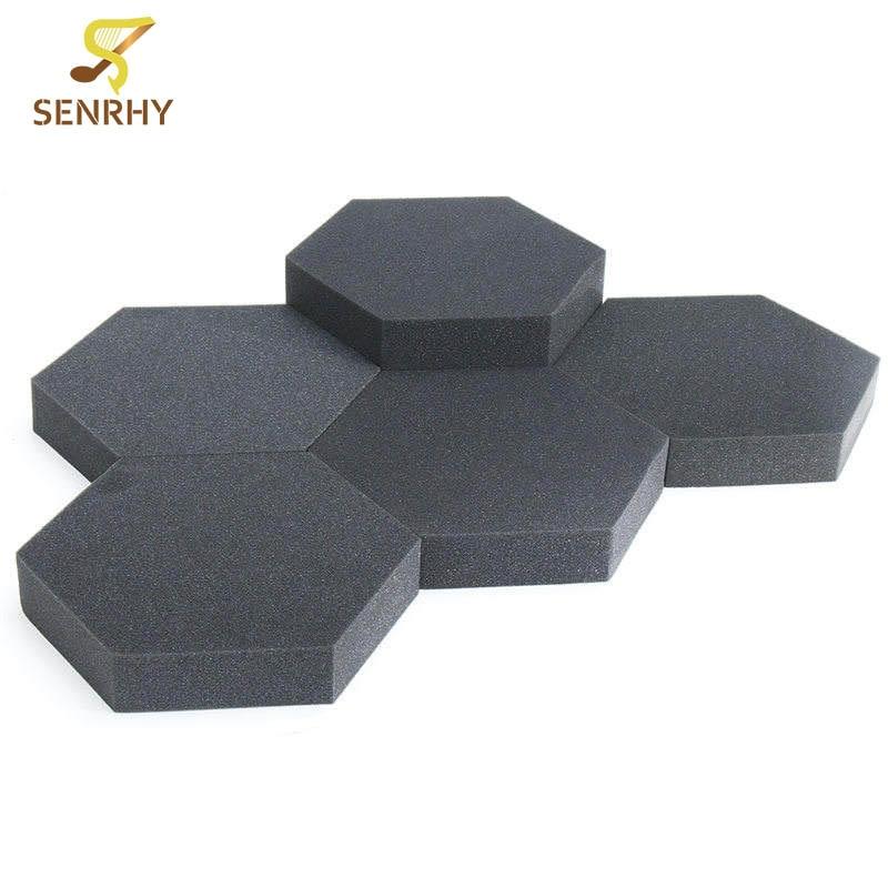 24pcs foam hexagon acoustic studio absorption treatment wall tiles noise reduction sound insulation