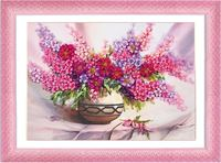 Needlework DIY Ribbon Cross Stitch Sets For Embroidery Kit Table Vase Flowers Bands Embroidery Wall Wedding