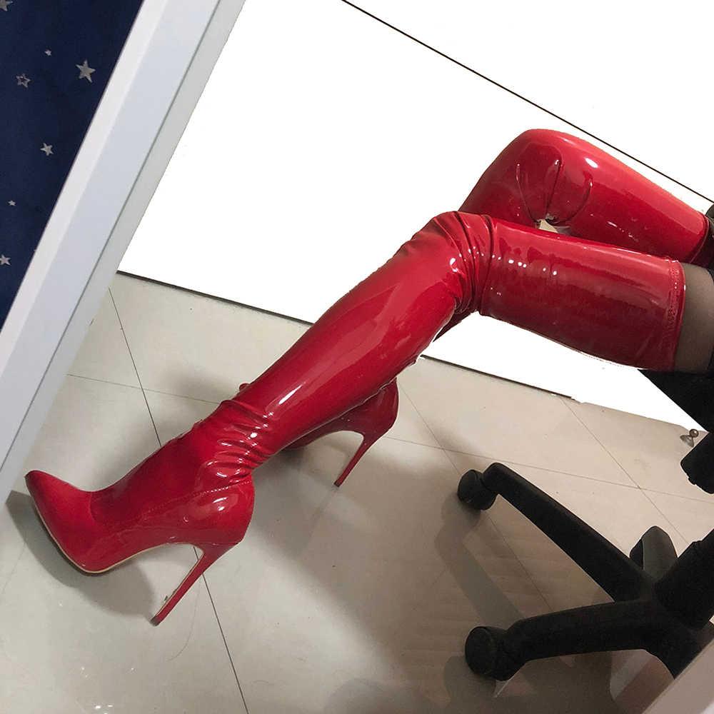 TIMETANG Personnalisation Personnelle Bottes Personnaliser Sexy Femme Cuissardes Bout Pointu Talon Mince Botte Afficher/t-stage/Nuit Chaussure