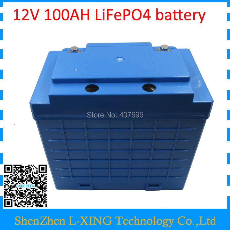 12 V lifepo4 batteria 12 V 350 W 12 V 100AH batteria 100AH 12 V lifepo4 batteria 4 S 30 P trasporto dazio doganale Con 5A caricatore
