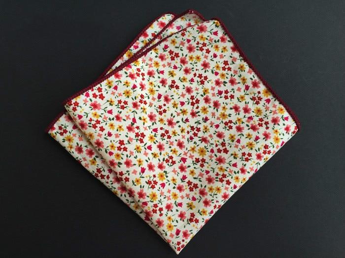 2019 New Style Men's Elegant Pocket Square Handkerchiefs Floral Hankerchief Scarves Vintage Cotton Hankies Rose Flower Paisley