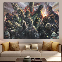 Movie Poster Many Monsters HD Wall Art Canvas Painting Posters Prints Modern Picture For Living Room Home Decor