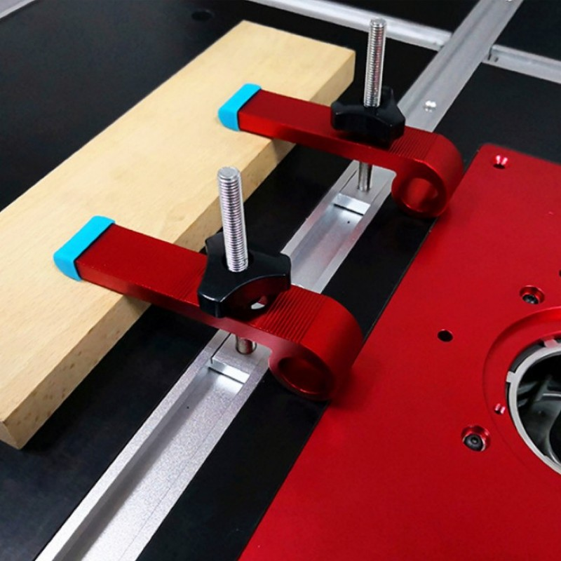 4 Pc/Set Universal Platen Miter Track Clamping Blocks T-Track Chute Blocks M8 Screw Woodworking Clamps