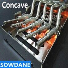 5 Pcs Set Dental Implantat Anlage Osteotom Gerät Knochen Extruder Dental zahn extraktion werkzeug Sinus Lift Gebogen mit Kassette Fall