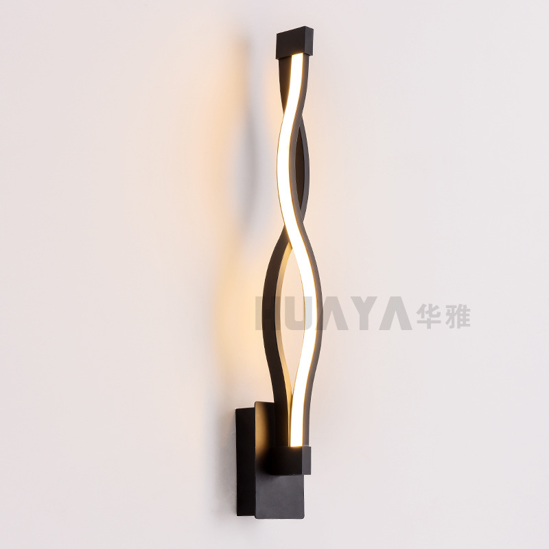 modern LED Acrylic wave wall lamp for bedroom bedside lamp Corridor aisle porch lamp modern lamp trophy wall lamp wall lamp bed lighting bedside wall lamp
