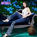 BKXRH Nuevas Mujeres Jeans de moda para mujer boot cut jeans mujer pantalones de mezclilla azul de campana inferior pantalones de jean Mujer