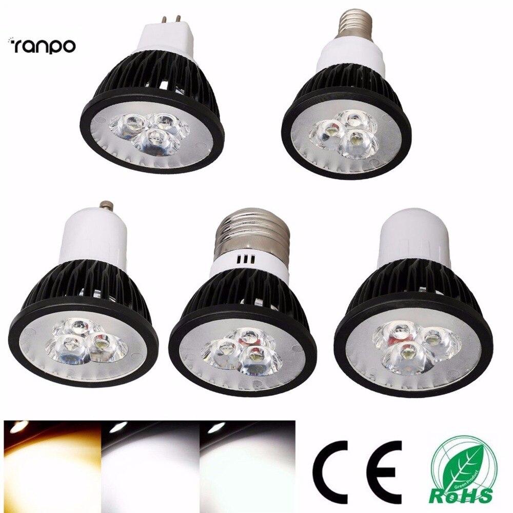 10X LED Spotlights GU10 E27 E14 GU5.3 3W 6W 9W SMD Bulbs Lamp Light 110V 220V Warm Cool White