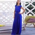 Элегантный Bodycon Летнее Платье Blue Плюс Размер Женская Одежда С Коротким Рукавом Пояса Повседневная & Партия Большой Размер Макси Платье свадебные платья