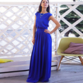 Elegant Bodycon Summer  Dress  Blue Plus Size Women Clothing Short Sleeve Belt  Casual&Party Large Size Maxi Dress  vestidos