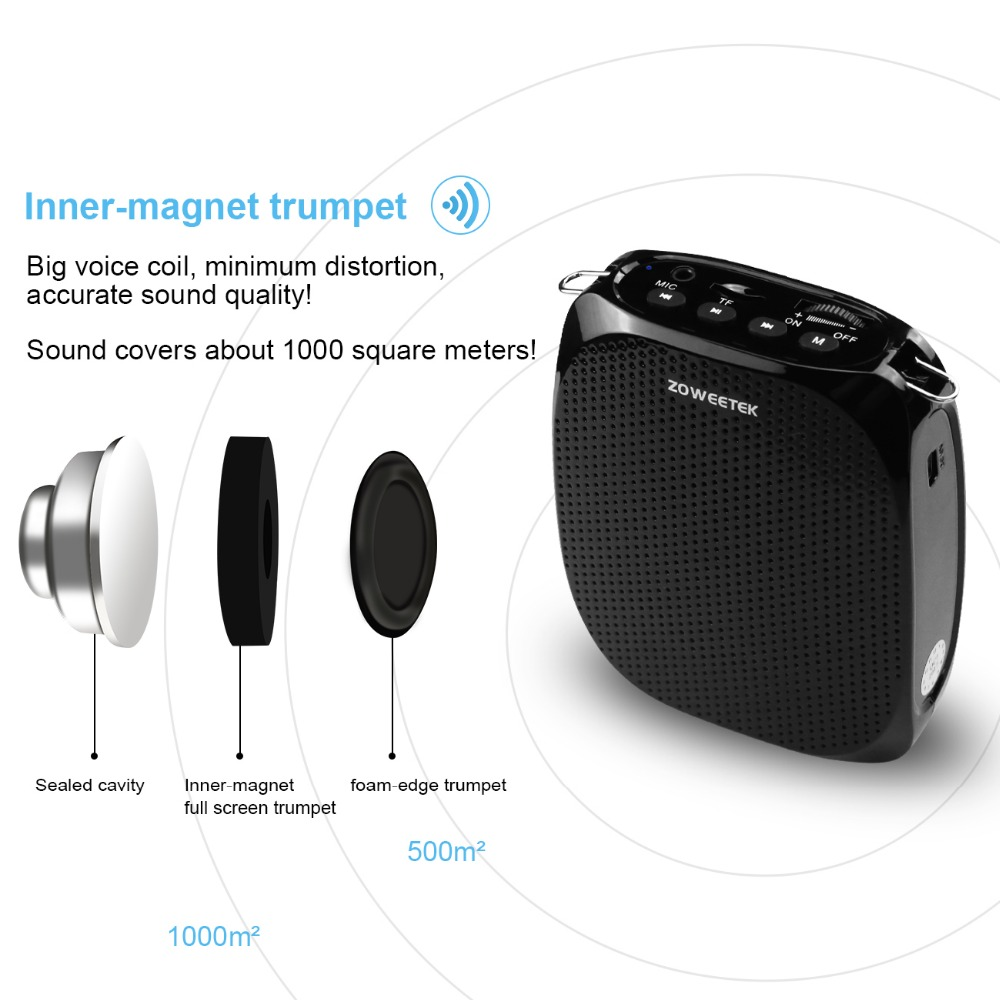 Zoweetek 10w Wired Mini Audio Speaker Portable Voice Amplifier Natural Stereo Sound Microphone Loudspeaker For Tour Guide Speech In Speakers From