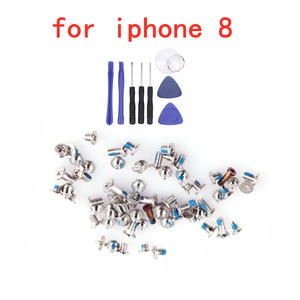 Full-Screw-Set Complete-Kit Repair-Bolt Free-Tools iPhone 8 for Replacement Part-Assembly