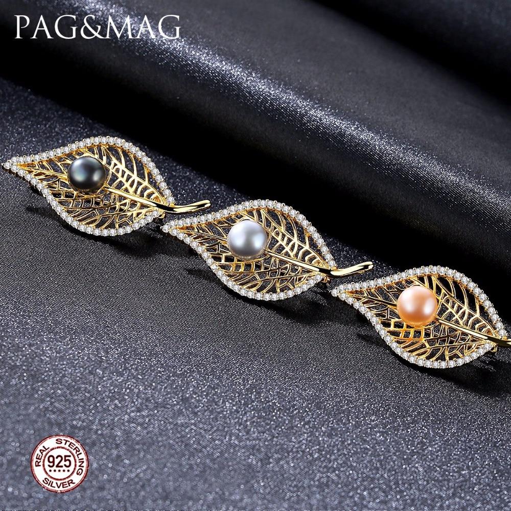 PAG & MAG Marka Kształt Liścia Słodkowodne Pearl 8-8.5mm Naturalny - Wykwintna biżuteria - Zdjęcie 2