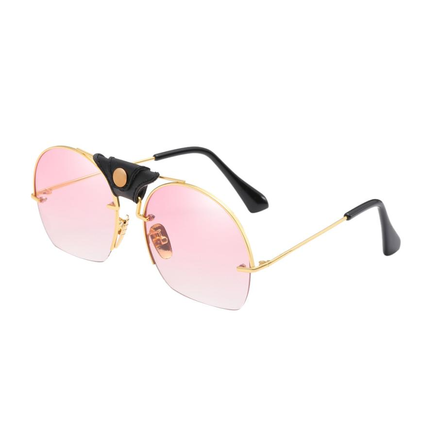 Exquisite Cycling Eyewear Women Men Metal Frame Shades Sunglasses Integrated UV Glasses Superb Protective Ultraviolet Spectacles