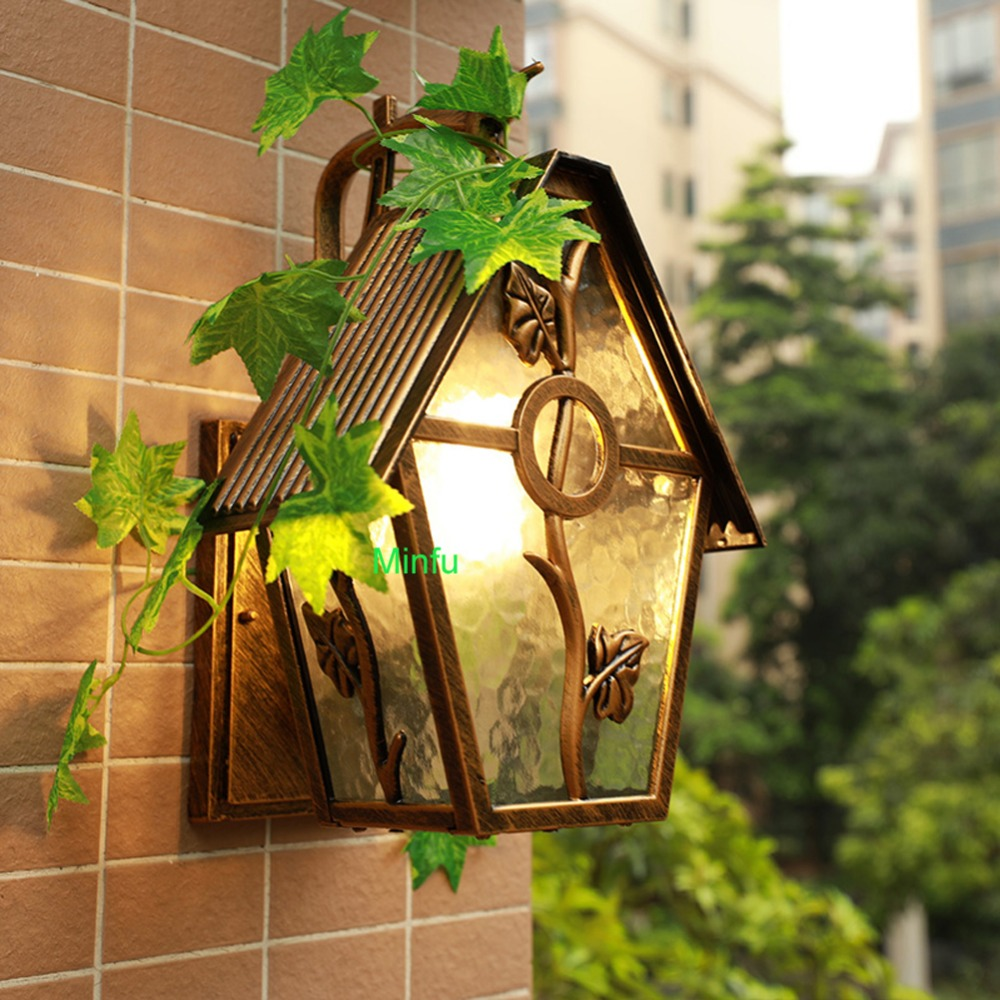 Art Deco outdoor wall lamp porch lights Garden Outdoor Wall Sconce Exterior LED Wall Lamps Porch Lantern Lights Waterproof lamps exterior wall sconce garden fence outdoor lighting garden lamp waterproof outdoor light fixtures backyard lights balcony lamps