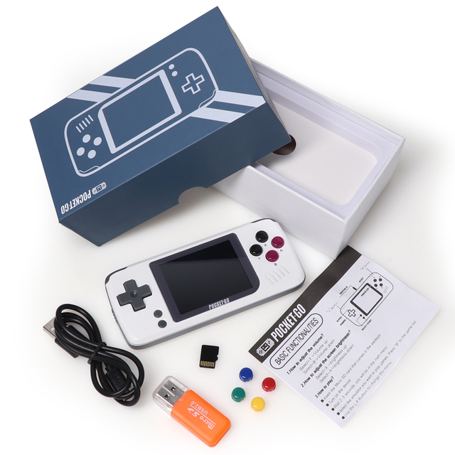 Portable Handheld Video Retro Game Console with Memory Card
