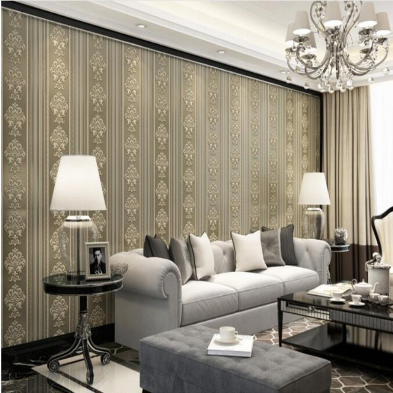 papel de parede Home decoration non-woven Scandinavian minimalist living room wallpaper 3d TV bedroom full of wallpaper