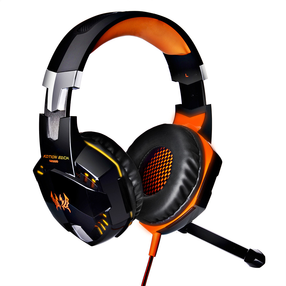 Original Kotion EACH G2000 Gaming Headset Earphone Headband Stereo Headphones With Mic LED Light Deep Bass