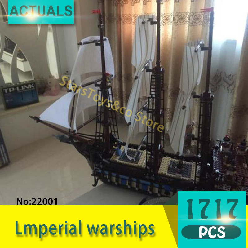 Lepin 22001 1717Pcs Movie Series Lmperial warships Building Blocks Bricks Toys For Children Compatible  pirates caribbean new bricks 22001 pirate ship imperial warships model building kits block briks toys gift 1717pcs compatible 10210